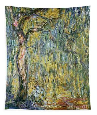 The Large Willow At Giverny Tapestry