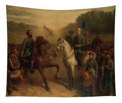 The Last Meeting Between General Lee And Stonewall Jackson Tapestry