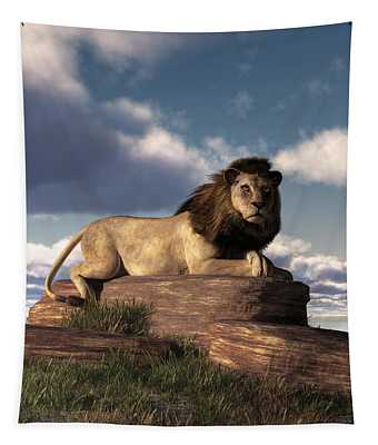 The Lazy Lion Tapestry