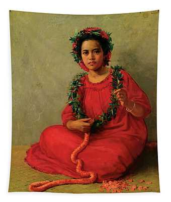 The Lei Maker Tapestry