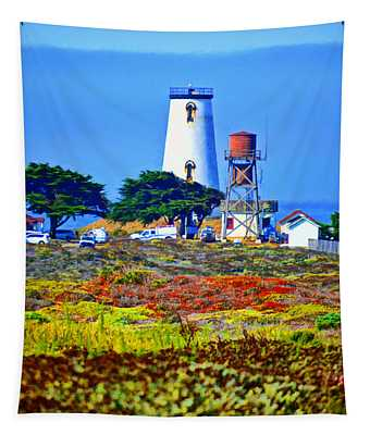 The Lighthouse Of San Simeon Tapestry