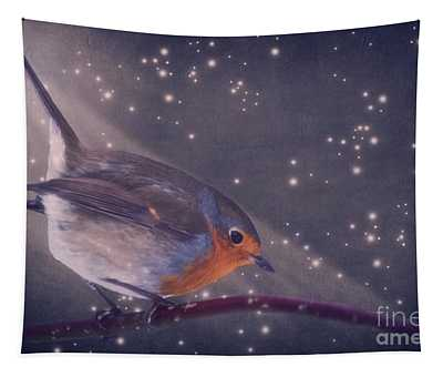 The Little Robin At The Night Tapestry