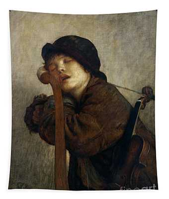 The Little Violinist Sleeping Tapestry