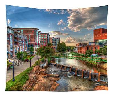 The Main Attraction Reedy River Greenville South Carolina Art Tapestry