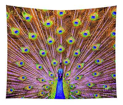 The Majestic Peacock Tapestry