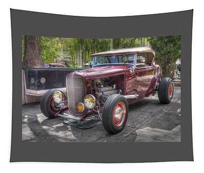 Maroon T Bucket Tapestry