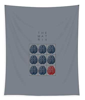The Matrix Minimal Movie Poster Tapestry