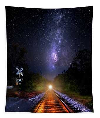 The Midnight Milky Way Express Tapestry