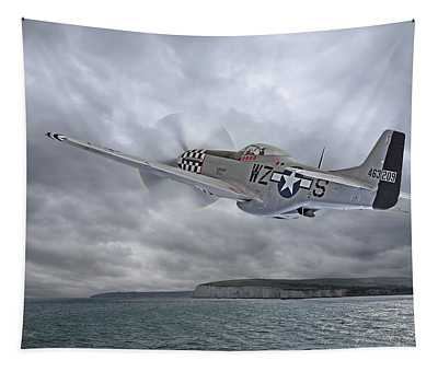 The Mission - P51 Over Dover Tapestry