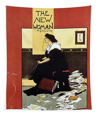 The New Woman - Sydney Grundy - Magazine Cover - Vintage Art Nouveau Poster Tapestry
