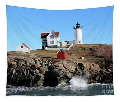 The Nubble Lighthouse  Tapestry