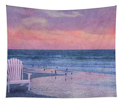 The Old Beach Chair Tapestry