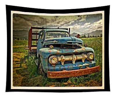 The Blue Classic Ford Truck Tapestry