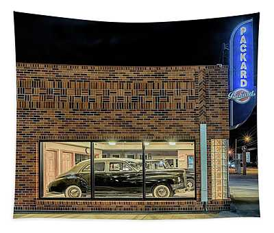 The Old Packard Dealership Tapestry