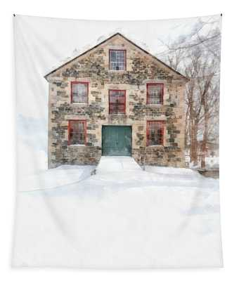 The Old Stone Barn Enfield New Hampshire Tapestry