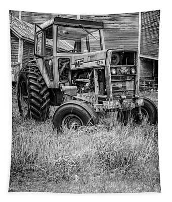 The Old Tractor By The Old Round Barn II Tapestry