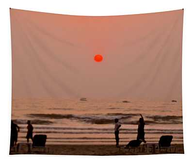 The Orange Moon Tapestry