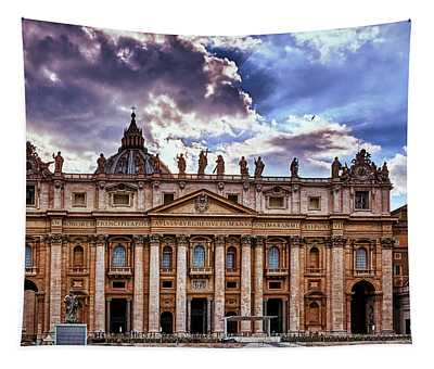 The Papal Basilica Of Saint Peter Tapestry