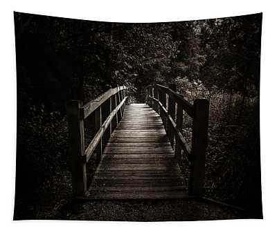 The Path Between Darkness And Light Tapestry