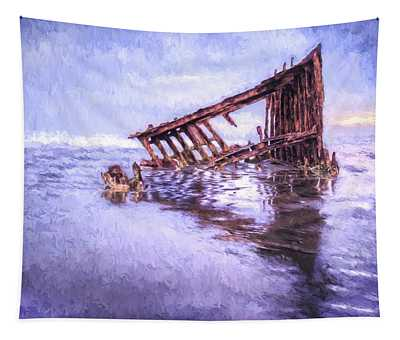 A Stormy Peter Iredale Tapestry