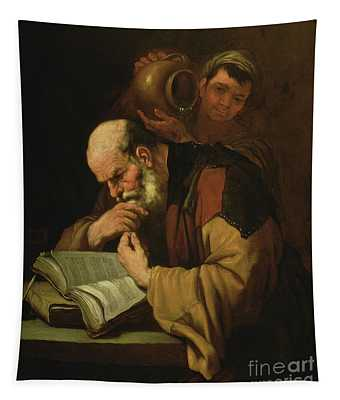 The Philosopher By Jusepe De Ribera Tapestry