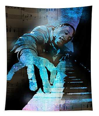 The Piano Man Tapestry