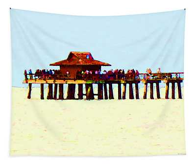 The Pier - Beach Pier Art Tapestry