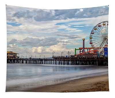 The Pier On A Cloudy Day Tapestry