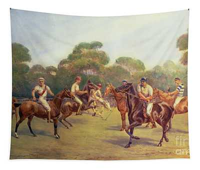 The Polo Match Tapestry