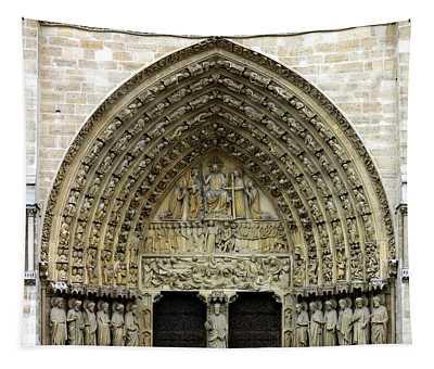 The Portal Of The Last Judgement Of Notre Dame De Paris Tapestry
