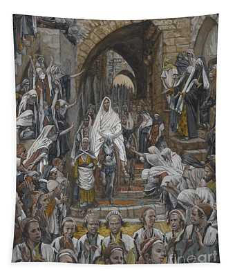 The Procession In The Streets Of Jerusalem Tapestry