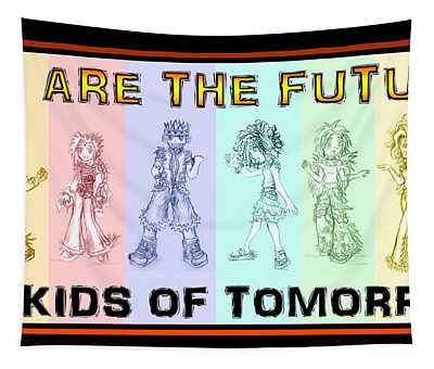 Tapestry featuring the drawing The Proud Kids Of Tomorrow 1 by Shawn Dall