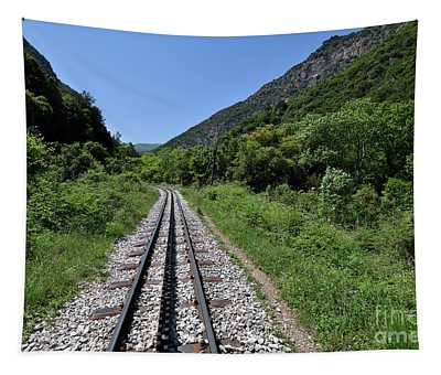 The Rack Railway In Vouraikos Gorge Tapestry