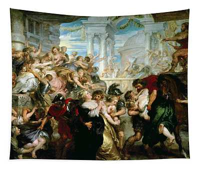 The Rape Of The Sabine Women Tapestry