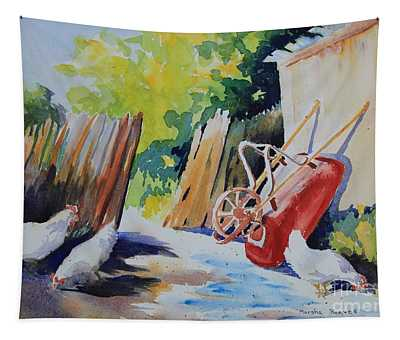 The Red Wheelbarrow Tapestry