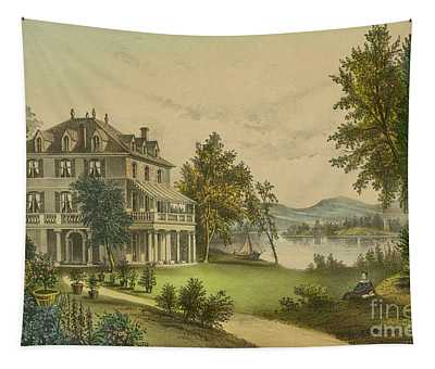 The Residence Of Lord Byron Tapestry