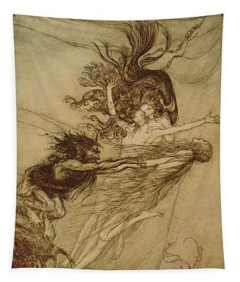 The Rhinemaidens Teasing Alberich Tapestry