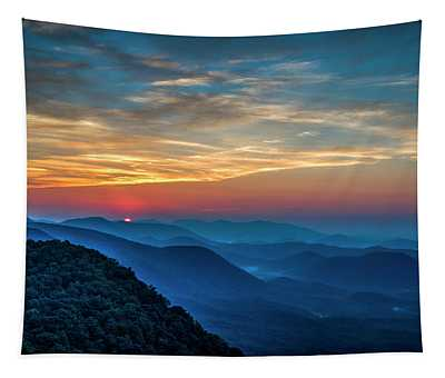 The Rising Sun Pretty Place Chapel Greenville S C Great Smoky Mountain Art Tapestry