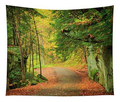 The Road To The Mill  Tapestry