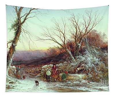 The Roadside Spring  Winter's Evening Tapestry