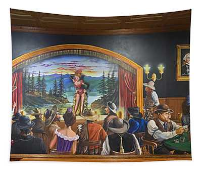 The Saloon On Saturday Night Tapestry