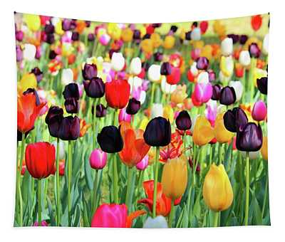 The Season Of Tulips Tapestry