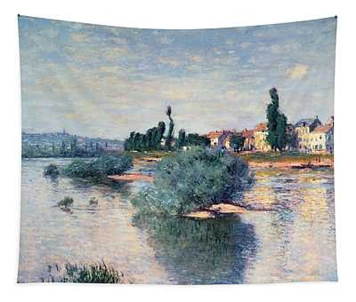 The Seine At Lavacourt Tapestry