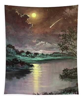 The Silence Of A Falling Star Tapestry