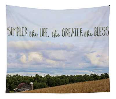 The Simpler Life Tapestry