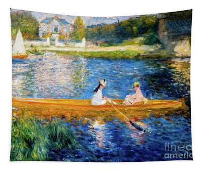 Renoir Boating On The Seine Tapestry