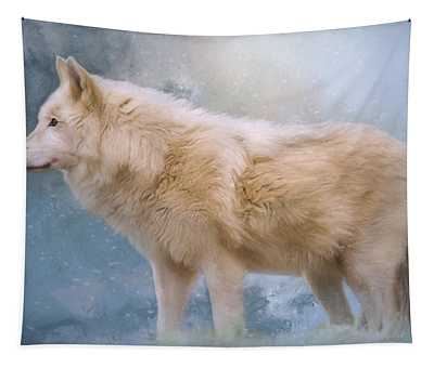The Spirit Within - Arctic Wolf Art Tapestry