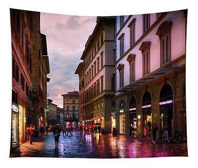 The Streets Of Florence Tapestry