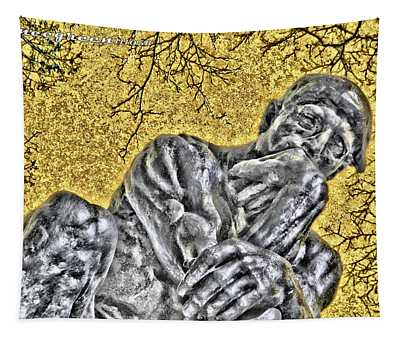 The Thinker - Study #1 Tapestry