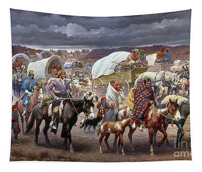 Tapestry featuring the painting The Trail Of Tears by Granger